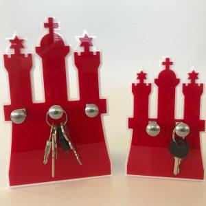 Schlüsselaufbewahrung zwei oder drei Haken